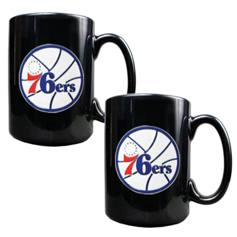 Philadelphia 76ers 15oz. Coffee Mug Set - Black
