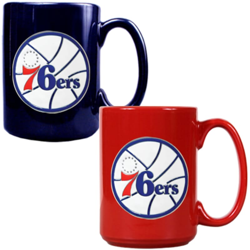Philadelphia 76ers 15oz. Coffee Mug Set - Royal/Red