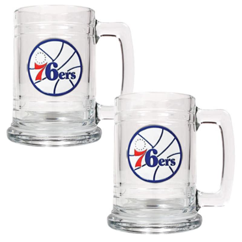 Philadelphia 76ers 2-Piece 15oz. Tankard Set