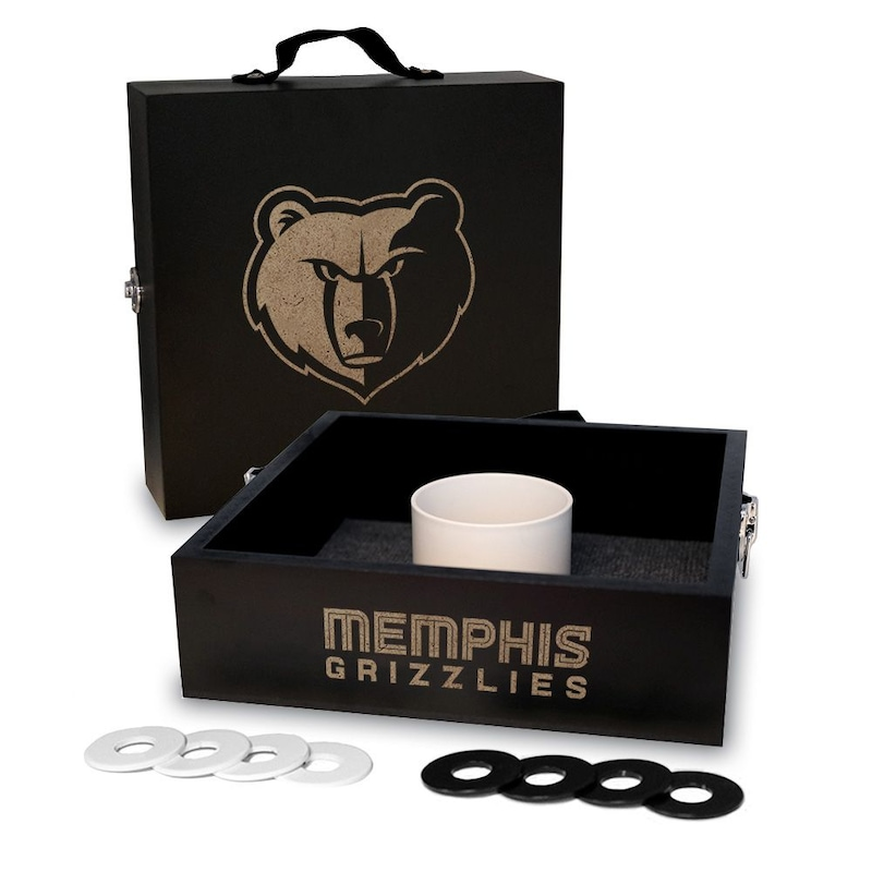 Memphis Grizzlies Onyx Stained Washer Toss Game Set