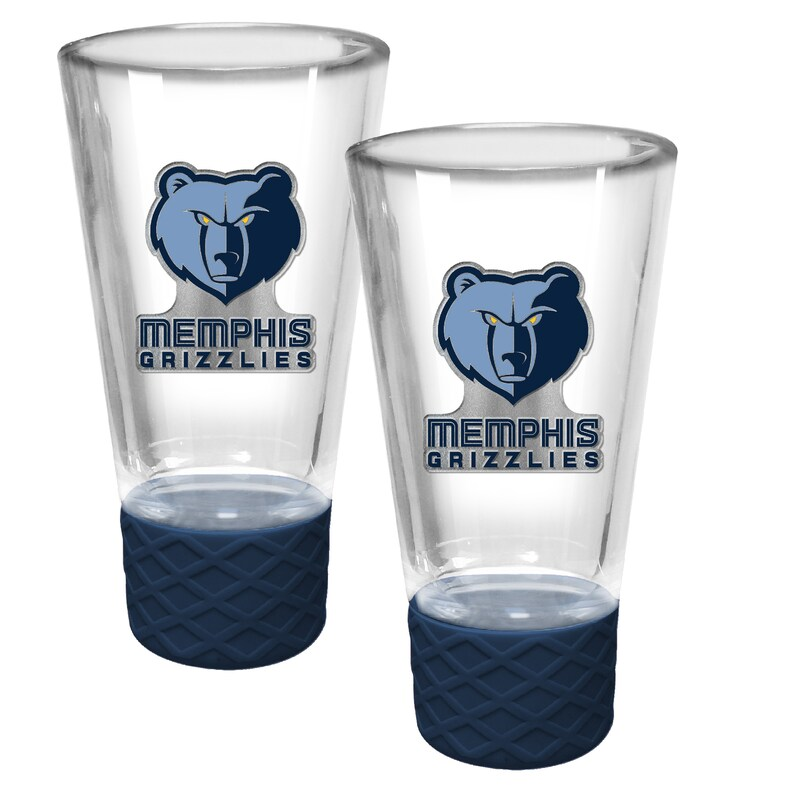 Memphis Grizzlies 2-Pack Cheer Shot Set with Silicone Grip