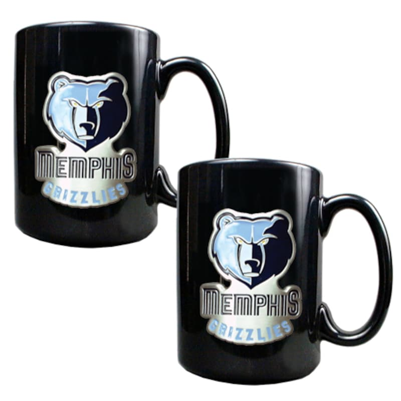 Memphis Grizzlies 15oz. Coffee Mug Set - Black