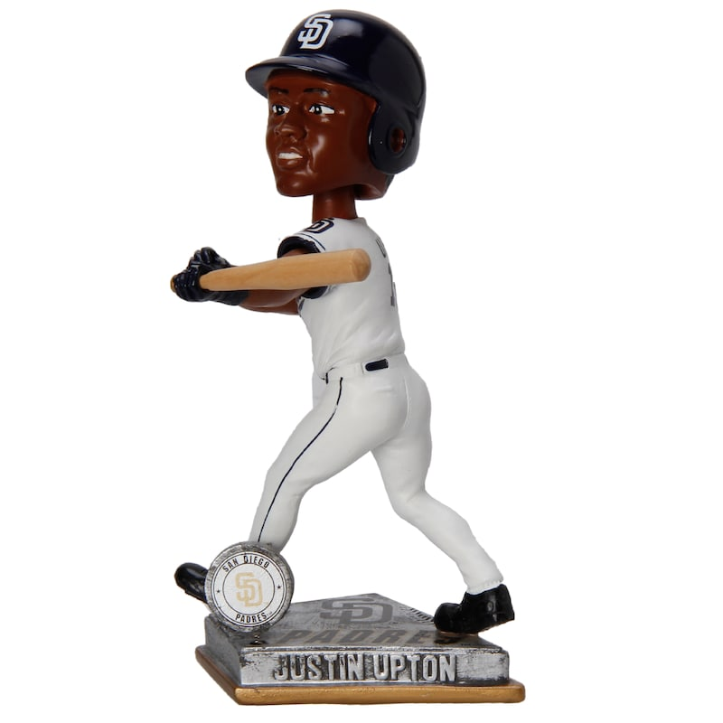 Justin Upton San Diego Padres Springy Logo Player Action Bobblehead