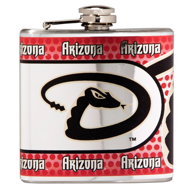 Arizona Diamondbacks 6oz. Stainless Steel Hip Flask - Silver