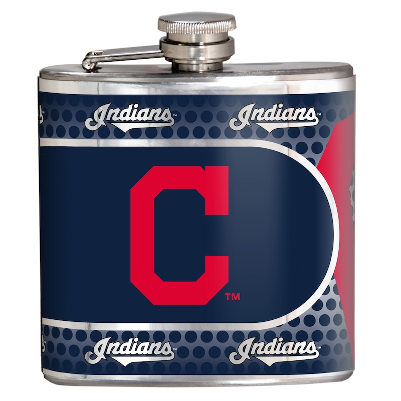 Cleveland Indians 6oz. Stainless Steel Hip Flask - Silver
