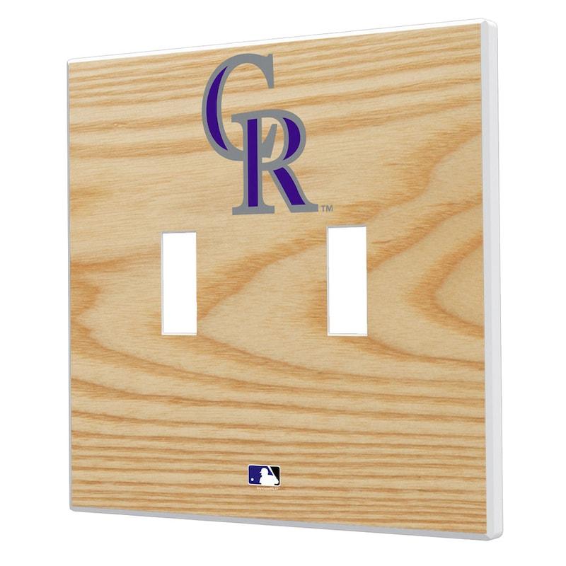 Colorado Rockies Baseball Bat Design Double Toggle Light Switch Plates