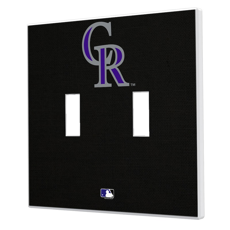 Colorado Rockies Solid Design Double Toggle Light Switch Plate