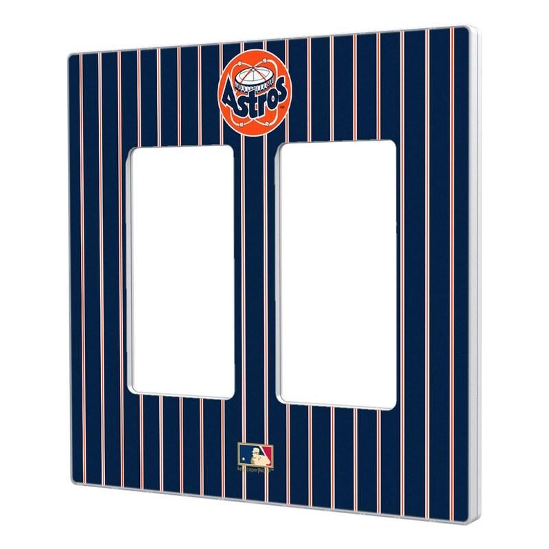 Houston Astros 1977-1998 Cooperstown Pinstripe Double Rocker Light Switch Plate