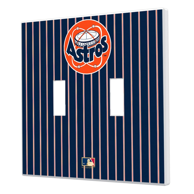 Houston Astros 1977-1998 Cooperstown Pinstripe Double Toggle Light Switch Plate