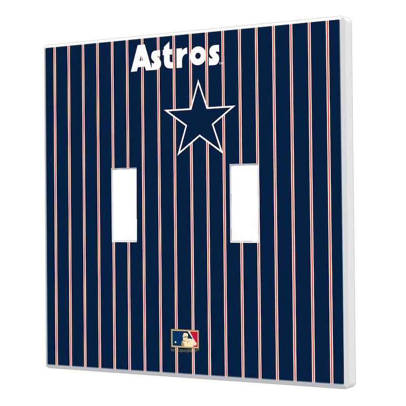 Houston Astros 1975-1981 Cooperstown Pinstripe Double Toggle Light Switch Plate