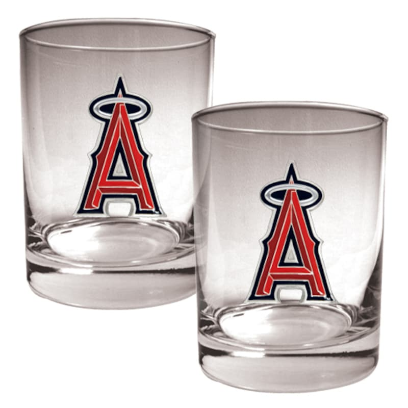 Los Angeles Angels 14oz. Rocks Glass Set