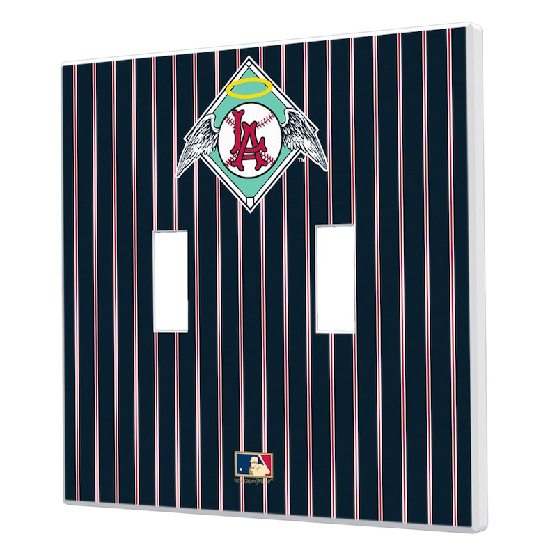 Los Angeles Angels 1961-1965 Cooperstown Pinstripe Double Toggle Light Switch Plate
