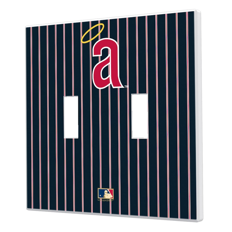 Los Angeles Angels 1971 Cooperstown Pinstripe Double Toggle Light Switch Plate