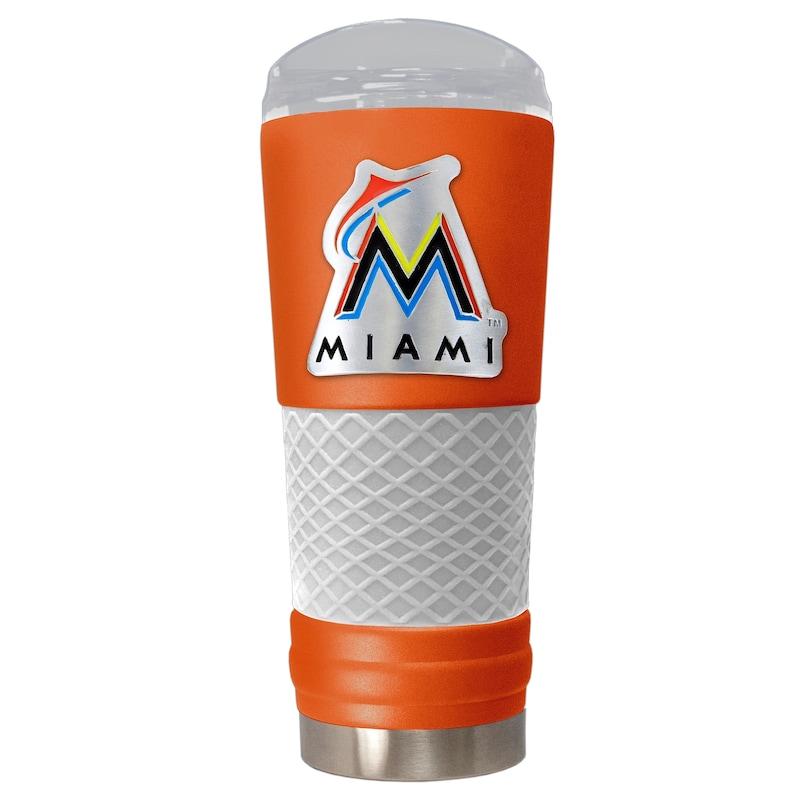 Miami Marlins 24oz. Powder Coated Draft Travel Mug - Orange