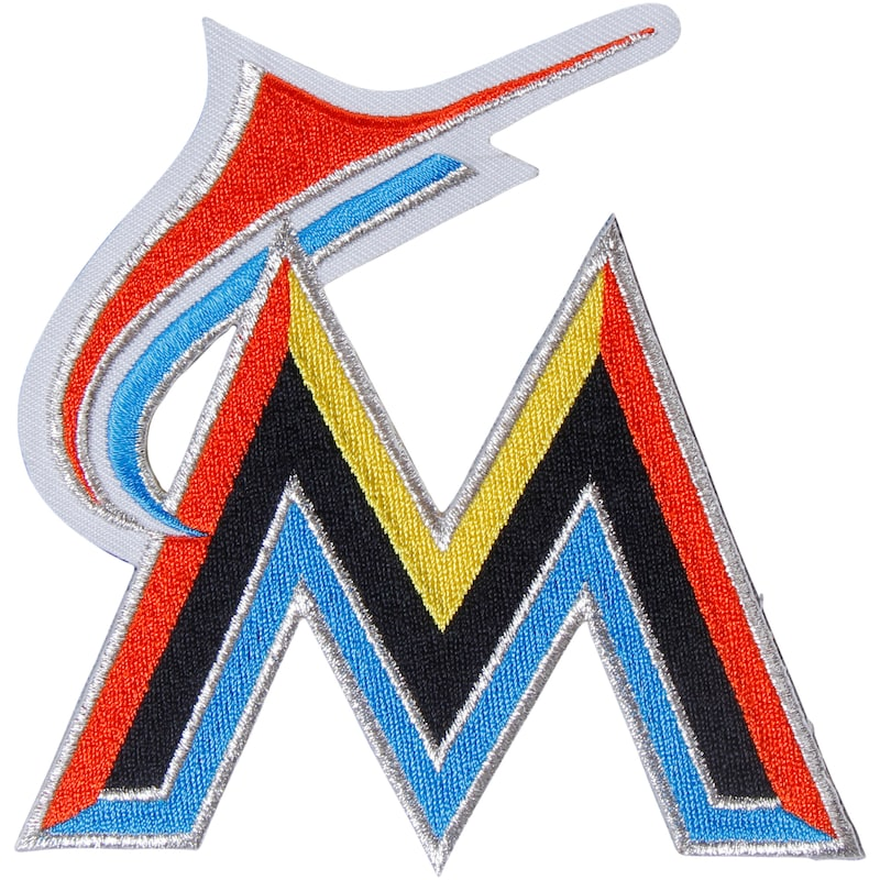 "Miami Marlins ""M"" Secondary Logo Patch"