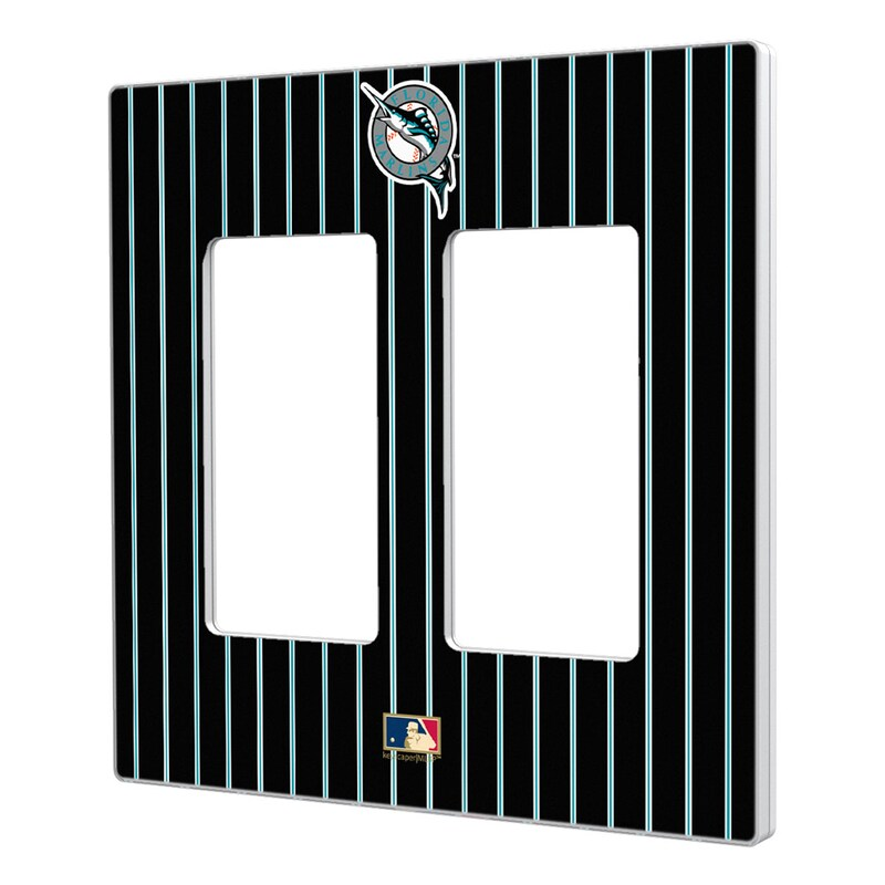 Miami Marlins 1993-2011 Cooperstown Pinstripe Double Rocker Light Switch Plate