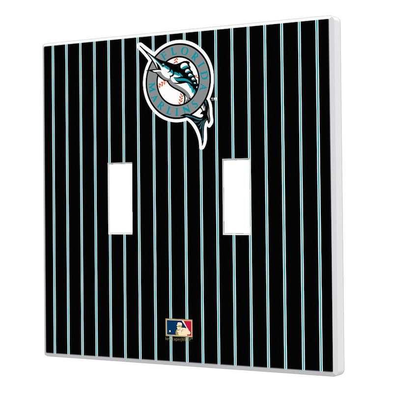 Miami Marlins 1993-2011 Cooperstown Pinstripe Double Toggle Light Switch Plate