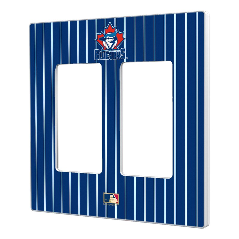 Toronto Blue Jays 1997-2002 Cooperstown Pinstripe Double Rocker Light Switch Plate