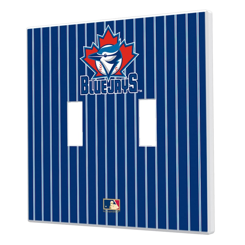 Toronto Blue Jays 1997-2002 Cooperstown Pinstripe Double Toggle Light Switch Plate