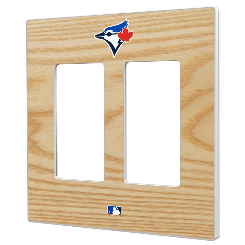 Toronto Blue Jays Baseball Bat Design Double Rocker Light Switch Plate