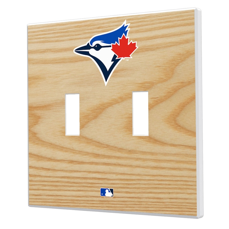 Toronto Blue Jays Baseball Bat Design Double Toggle Light Switch Plates