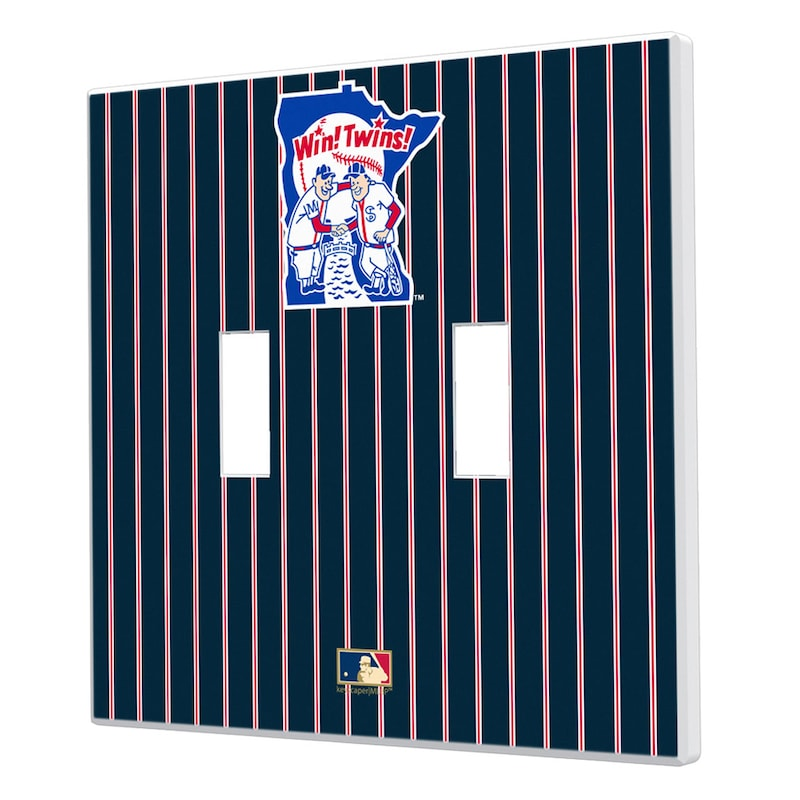 Minnesota Twins 1976-1986 Cooperstown Pinstripe Double Toggle Light Switch Plate
