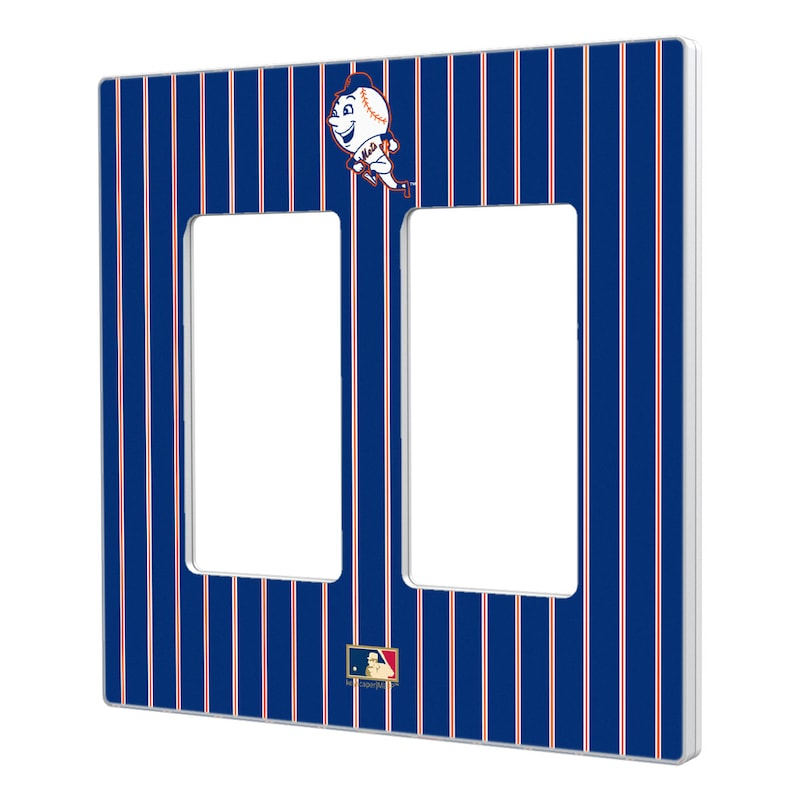 New York Mets 2014 Cooperstown Pinstripe Double Rocker Light Switch Plate