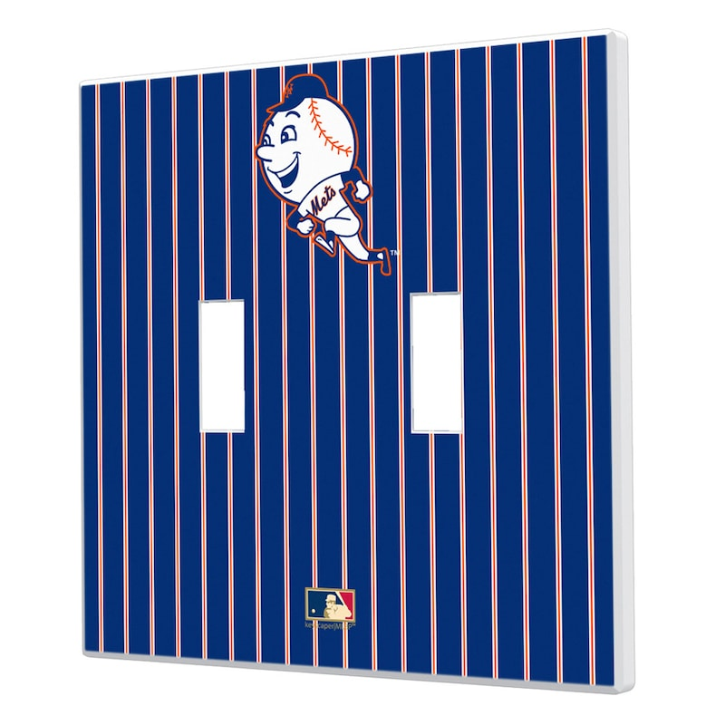 New York Mets 2014 Cooperstown Pinstripe Double Toggle Light Switch Plate