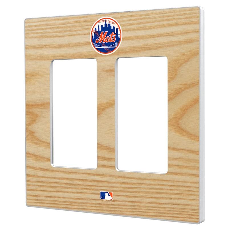 New York Mets Baseball Bat Design Double Rocker Light Switch Plate