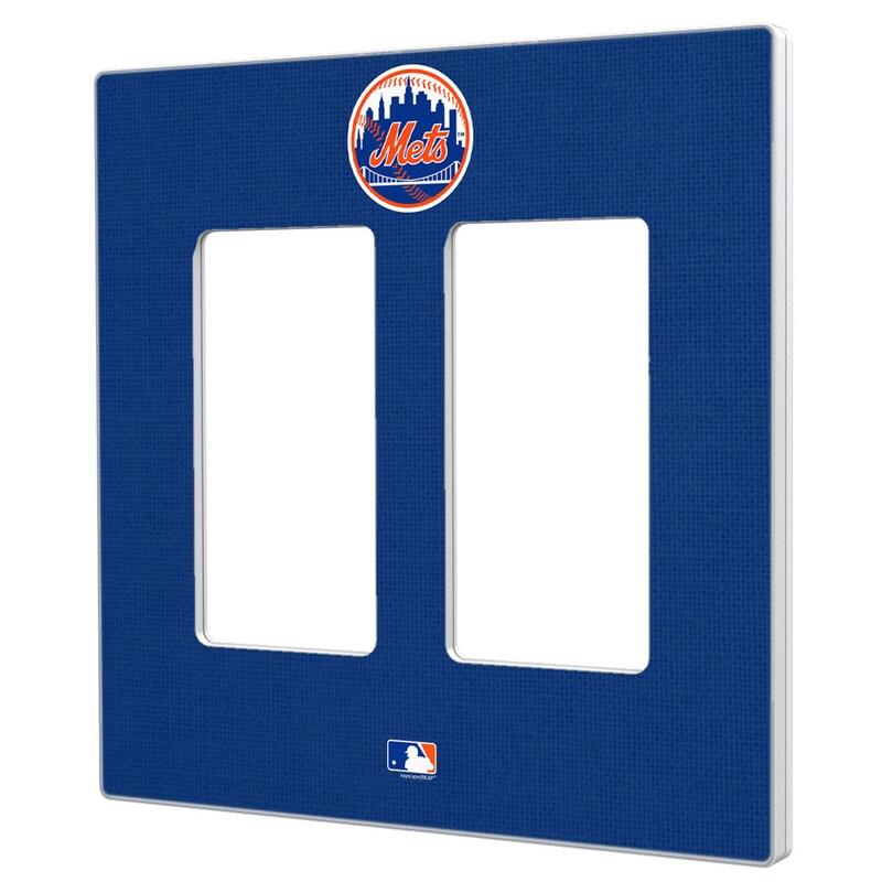 New York Mets Solid Double Rocker Light Switch Plate