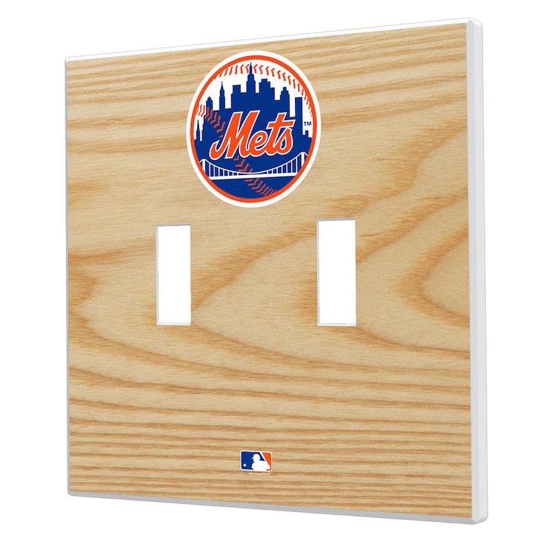 New York Mets Baseball Bat Design Double Toggle Light Switch Plates