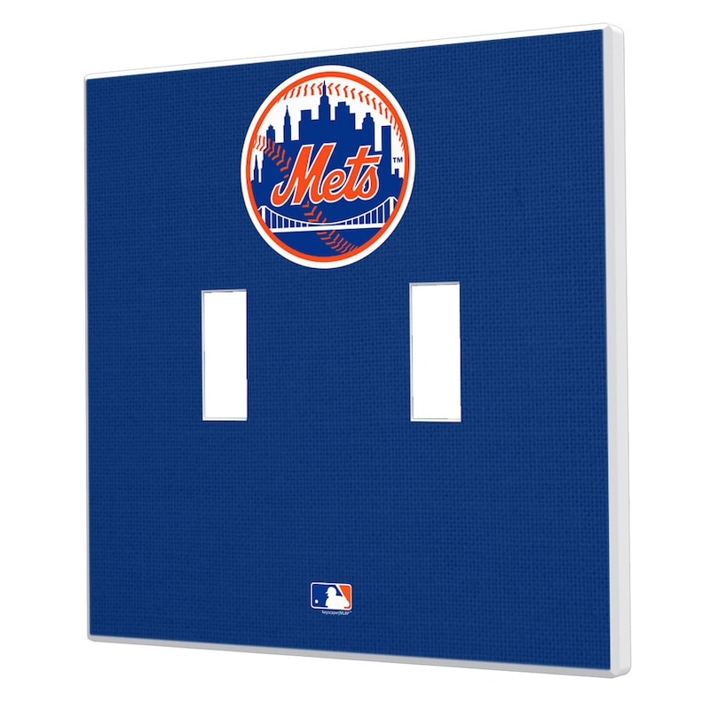 New York Mets Solid Design Double Toggle Light Switch Plate