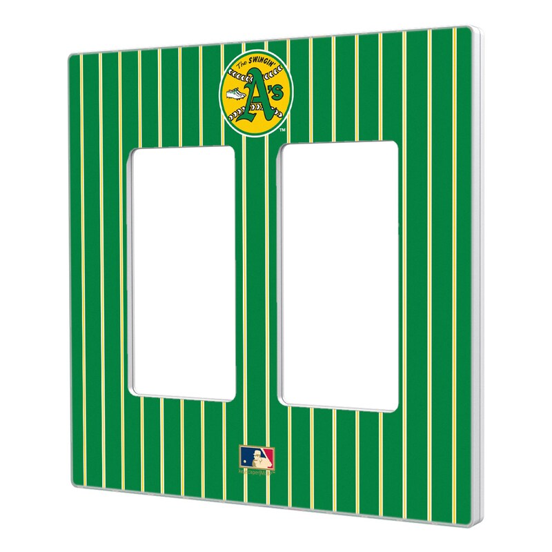 Oakland Athletics 1971-1981 Cooperstown Pinstripe Double Rocker Light Switch Plate