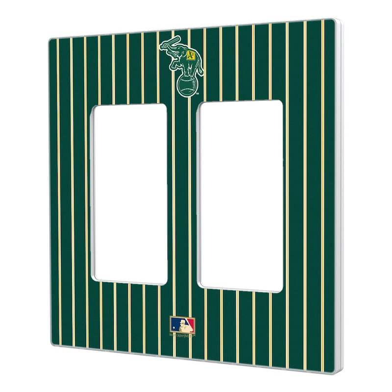 Oakland Athletics 1988 Cooperstown Pinstripe Double Rocker Light Switch Plate