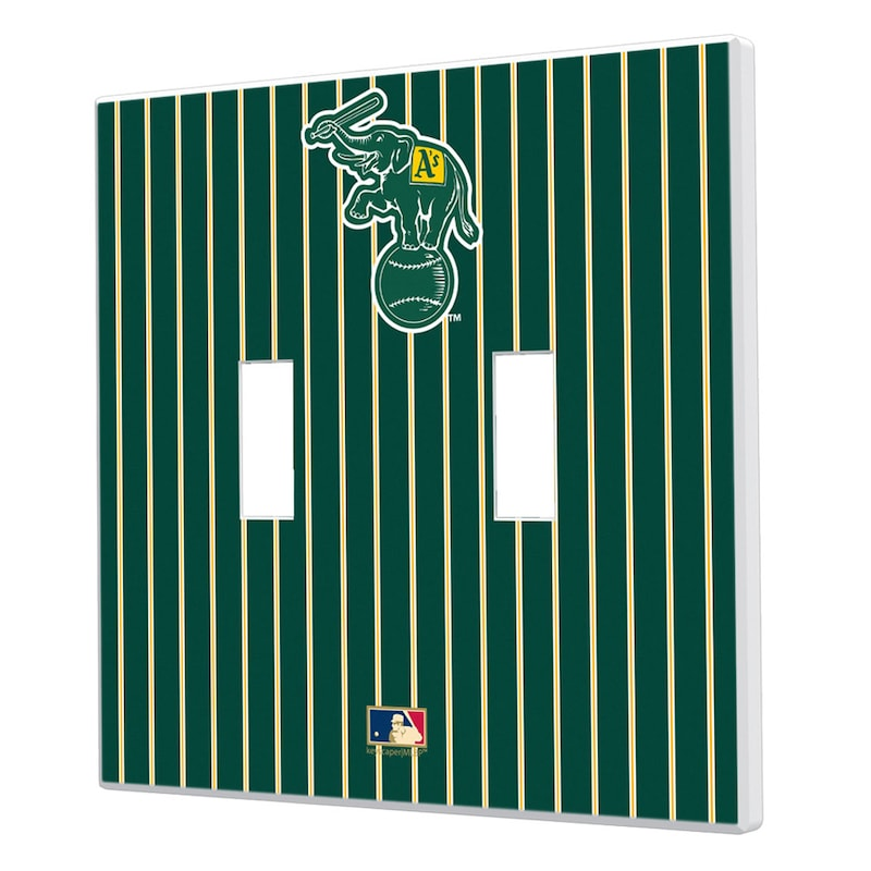 Oakland Athletics 1988 Cooperstown Pinstripe Double Toggle Light Switch Plate