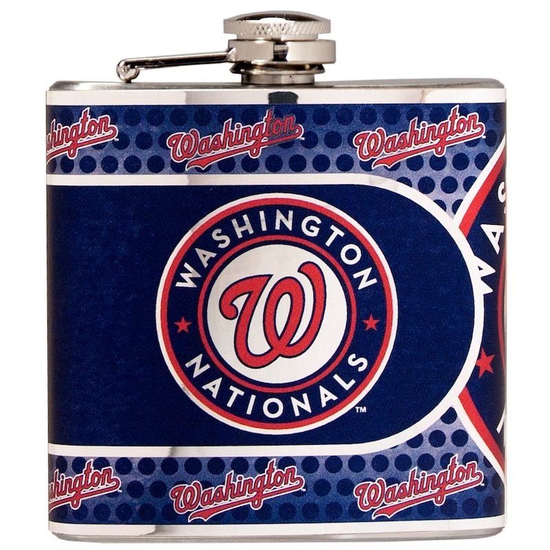 Washington Nationals 6oz. Stainless Steel Hip Flask - Silver