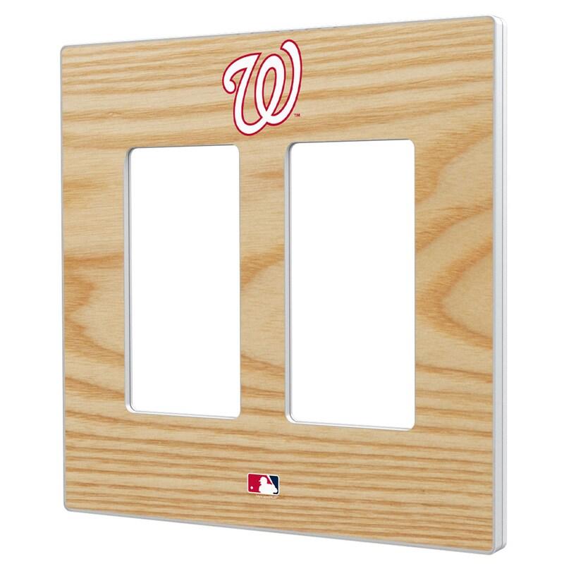 Washington Nationals Baseball Bat Design Double Rocker Light Switch Plate