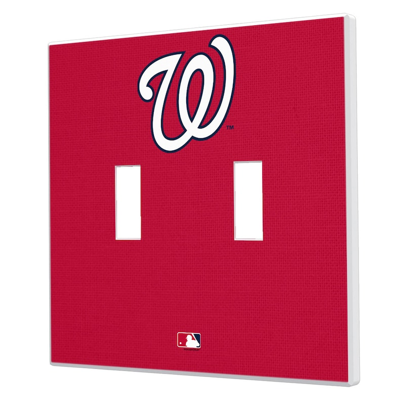 Washington Nationals Solid Design Double Toggle Light Switch Plate
