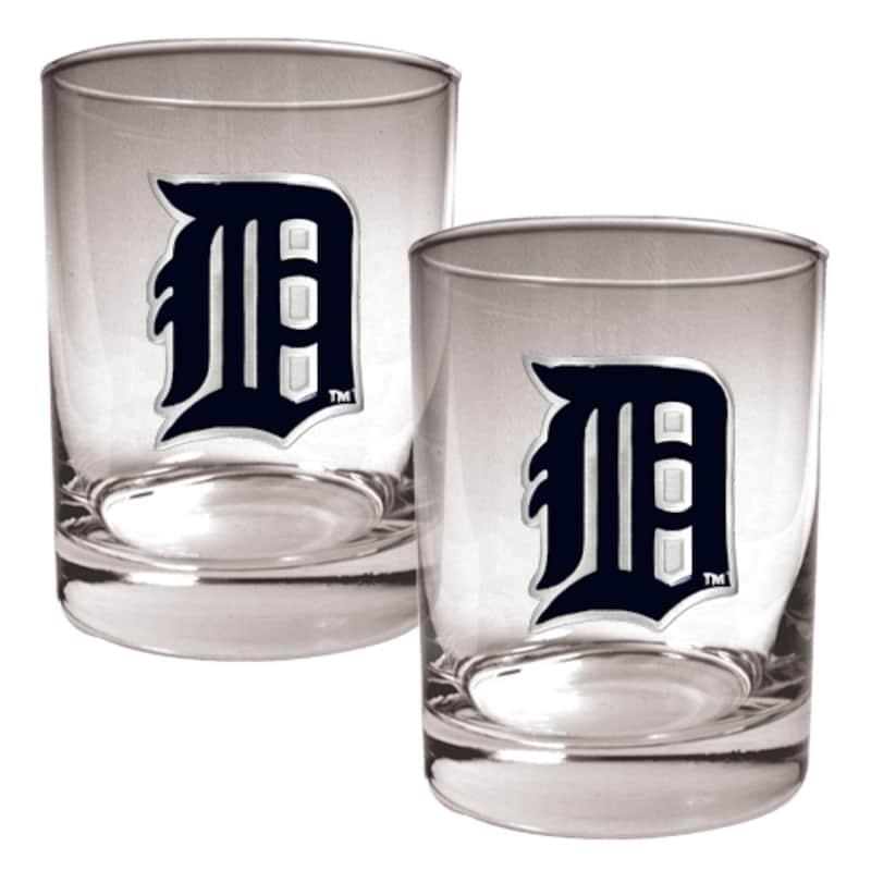 Detroit Tigers 14oz. Rocks Glass Set