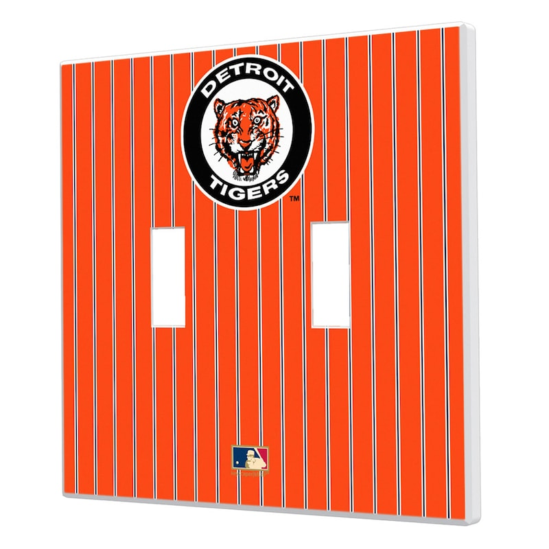 Detroit Tigers 1961-1963 Cooperstown Pinstripe Double Toggle Light Switch Plate