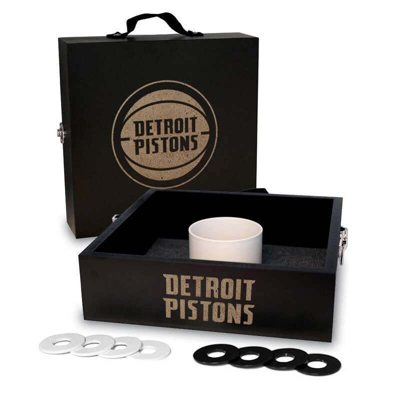 Detroit Pistons Onyx Stained Washer Toss Game Set