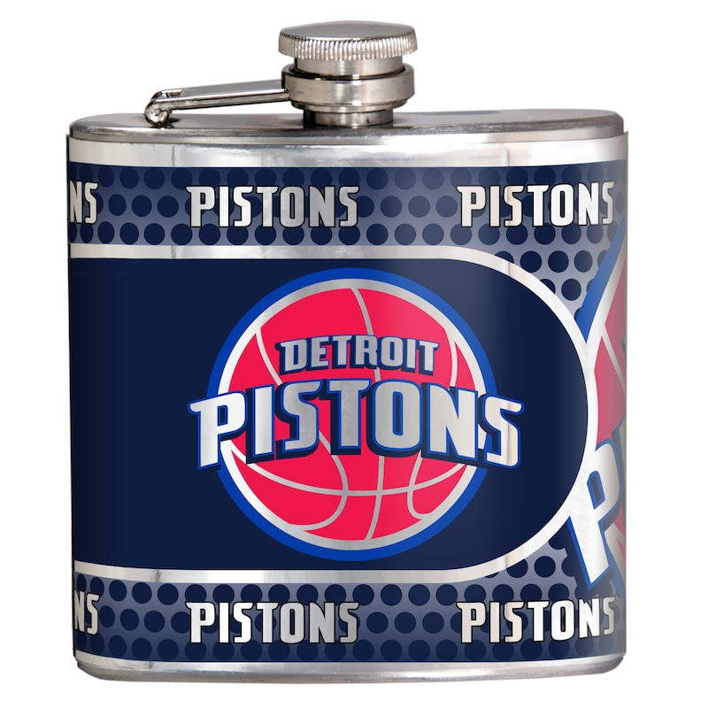 Detroit Pistons 6oz. Stainless Steel Hip Flask - Silver