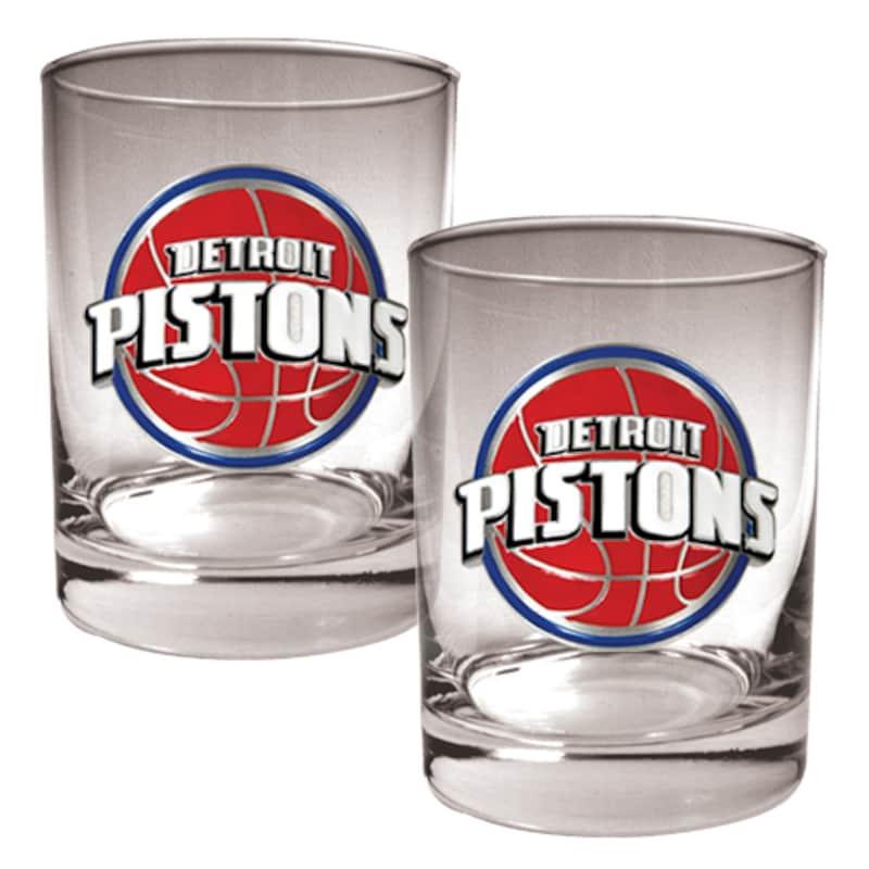 Detroit Pistons 14oz. Rocks Glass Set