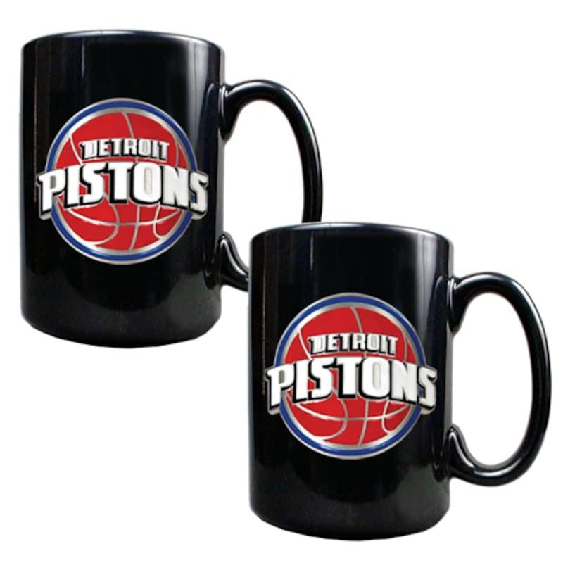 Detroit Pistons 15oz. Coffee Mug Set - Black
