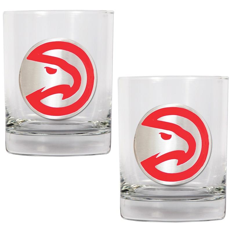 Atlanta Hawks 14oz. Rocks Glass Set