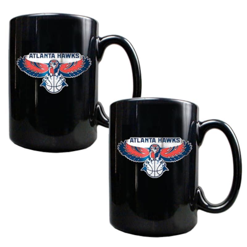 Atlanta Hawks 15oz. Coffee Mug Set - Black