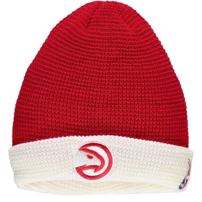 Atlanta Hawks adidas Authentic Team Cuffed Knit Hat - Red