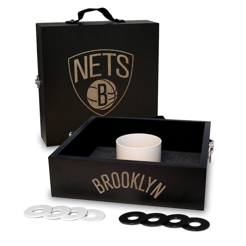 Brooklyn Nets Onyx Stained Washer Toss Game Set