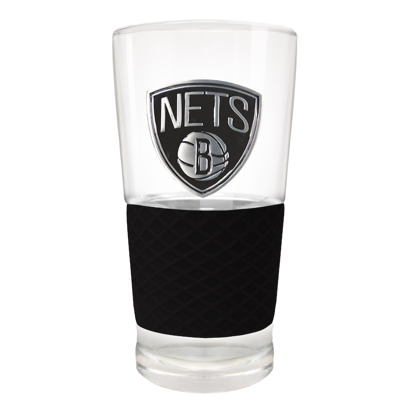 Brooklyn Nets 22oz. Pilsner Glass with Silicone Grip