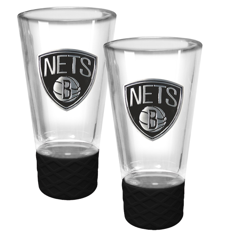 Brooklyn Nets 2-Pack Cheer Shot Set with Silicone Grip